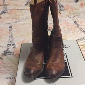 Frye Buckle Boots